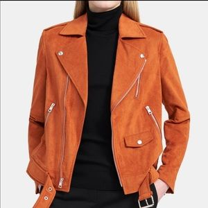 Theory Modern Faux Suede Moto Jacket